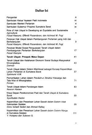 Tanah ulayat dan budaya padi Minangkabau PDF