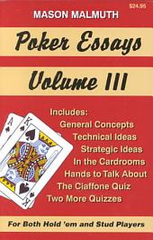 Poker Essays: Volume 3