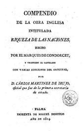 Compendio de la obra Inglesa intitulada Riqueza de las naciones