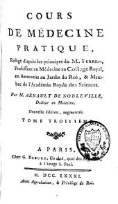 Cours de médecine pratique, rédigé d'après les principes de Ferrein: Volume3