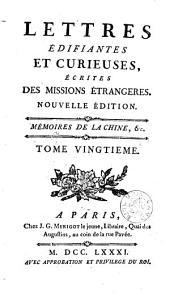 Lettres edifiantes et curieuses: ecrites des missions etrangéres