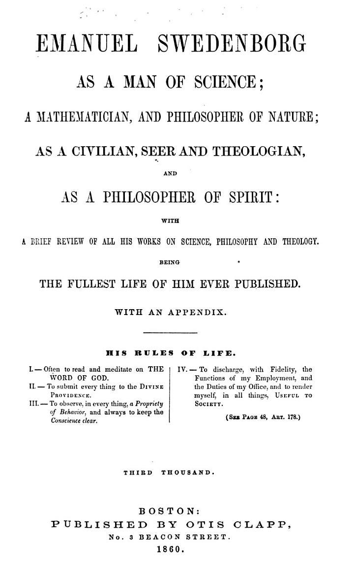 Emanuel Swedenborg as a Man of Science