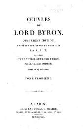 Oeuvres de Lord Byron: Volume 3