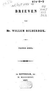 Brieven van Mr. Willem Bilderdijk: Volume 5