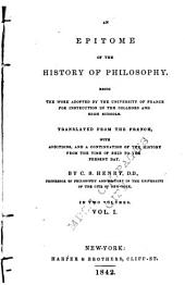 An Epitome of the History of Philosophy: Volume 1