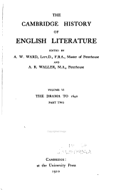 The Cambridge History of English Literature: Volume 6
