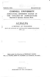 Alfalfa: A Report of Progress : Also an Outline of Cooperative Demonstrations for 1906