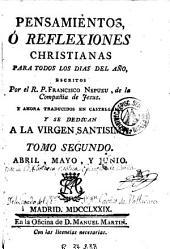 Pensamientos ó reflexiones christianas para todos los dias del año