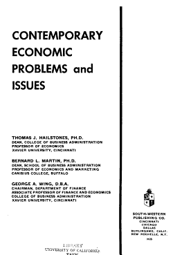 Contemporary Economic Problems and Issues PDF