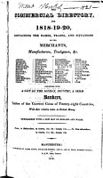The Commercial Directory for 1818 19 20     PDF