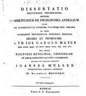 Dissertatio inauguralis physiologica sistens commentarios de phoronomia animalium ...