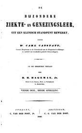 De bijzondere ziekte- en genezingsleer uit een klinisch standpunt bewerkt: Volume 8
