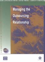 Managing the Outsourcing Relationship PDF
