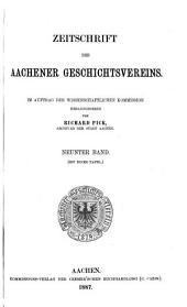 Zeitschrift des Aachener Geschichtsvereins: Band 9