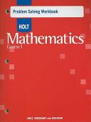 Mathematics Course 1  Grade 6 Problem Solving Workbook PDF