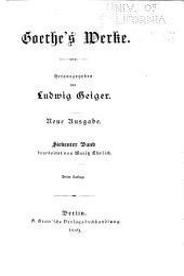 Goethe's Werke: bd. Wilhelm Meisters wanderjahre. Unterhaltungen deutscher ausgewanderten. Die guten weiber. Novelle