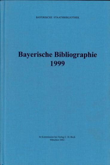 Bayerische Bibliographie 1999  PDF