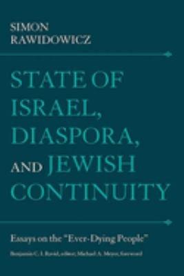 State of Israel  Diaspora  and Jewish Continuity PDF