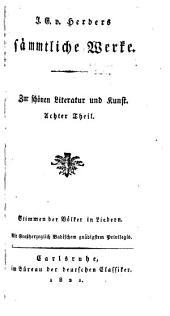 J.G. v. Herder's sämmtliche Werke: Zur Philosophie und Geschichte, Bände 24-25