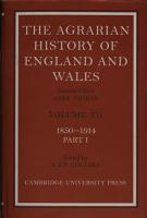 The Agrarian History of England and Wales PDF