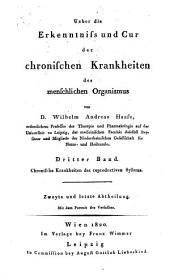 Über die Erkenntniß und Cur der chronischen Krankheiten des menschlichen Organismus: Chronische Krankheiten des reproductiven Systems, Band 3,Ausgabe 2