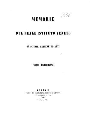 Memorie del Reale Istituto Veneto di Scienze  Lettere ed Arti PDF