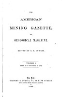The American Mining Gazette and Geological Magazine PDF