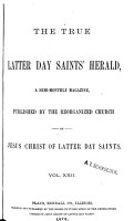 The True Latter Day Saints  Herald PDF