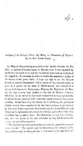 Analysis of the Bengali Poem Ráj Málá, or Chronicles of Tripurá. [Extracted from the Journal of the Asiatic Society of Bengal.]