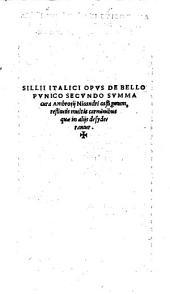 Opus De Bello Punico Secundo