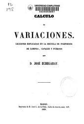 Cálculo de variaciones