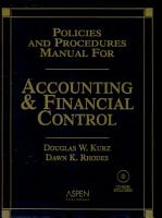 Policies and Procedures Manual for Accounting and Financial Control PDF