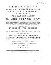 (De solennitate V. testium codicillis adhibendorum a Justiniano Imp. demum introducta ad 3. Inst. de Codicill.)