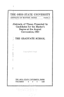 Abstracts of Masters  Theses PDF