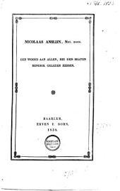 Nicolaas Anslijn, Nic. zoon: een woord aan allen, die den braven Hendrik gelezen hebben