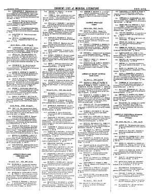 Current List of Medical Literature PDF