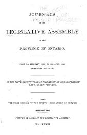 Journals of the Legislative Assembly of the Province of Ontario: Volume 28
