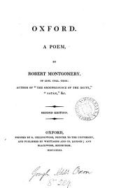 Oxford, a poem. (Poetical works of R. Montgomery).