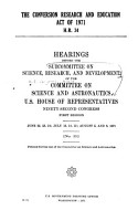 The Conversion Research and Education Act of 1971  H R  34 PDF