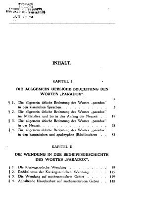 Zur Begriffsgeschichte des  Paradoxen   PDF