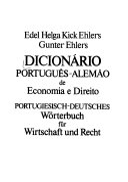 Dicion  rio portugu  s alem  o de economia e direito PDF