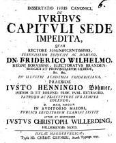 Dissertatio iuris canonici de iuribus capituli sede impedita