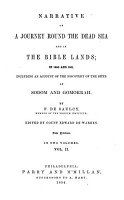 Narrative of a Journey Round the Dead Sea  and in the Bible Lands  in 1850 and 1851  Including an Account of the Discovery of the Sites of Sodom and Gomorrah PDF