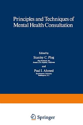 Principles and Techniques of Mental Health Consultation PDF