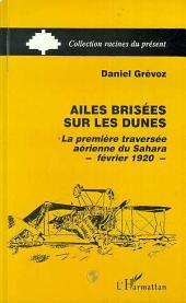 Ailes brisées sur les dunes: La première traversée aérienne du Sahara février 1920