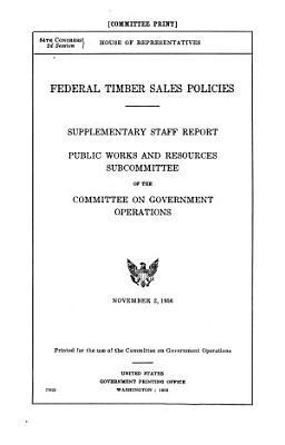 Federal Timber Sales Policies