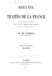 Recueil des traités de la France: Volume3
