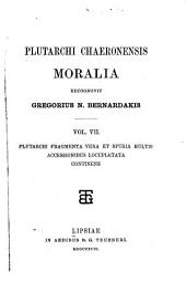 Moralia: Volume 7