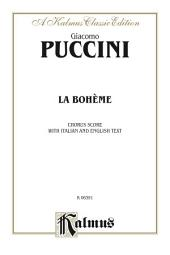 La Bohème: Choral Score with Italian and English Text
