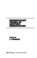 Decentralist Trends in Western Democracies PDF